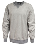 SPORT GREY-Pennant Inside-Out Crew Sweatshirt-FORCE LOGO- SILK SCREENED Included