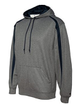 Badger - Pro Heather Fusion Performance Fleece Hooded Pullover -FORCE EMBROIDERED Logo Included