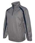 Badger - Pro Heather Fusion Perfomance Fleece Quarter-Zip Pullover - FORCE EMBROIDERED Logo included