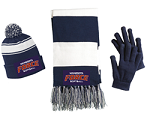 BE A SUPER SPECTATOR in this Stripe Scarf- FORCE Embroidered Logo Included