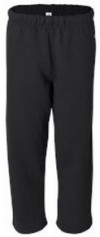 ADULT Badger Open Bottom Pocketed Sweatpants-INCLUDES EMBROIDERED LOGO