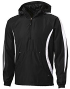 Sport Tek 1/4 Zip Colorblock Hooded Raglan Anorak- EMBROIDERED Team Logo included