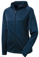 Sport Tek Ladies Full Zip Hooded Jacket