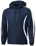 Sport Tek 1/4 Zip Hooded Pullover-Includes Left-Crest THUNDER Fastpitch Logo