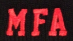 JSMFA extra small embroidered logo 1