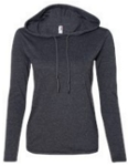 Anvil - Women's Lightweight Long Sleeve Hooded T-Shirt- Includes MFA SCREENED Logo on front
