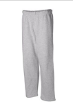 ADULT Badger Open Bottom Pocketed Sweatpants-INCLUDES MFA EMBROIDERED LOGO