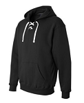 J America Sport Lace Hooded Sweatshirt- TWILL MFA Logo Included
